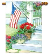 Toland patriotic house flag