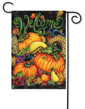 Decorative fall garden flag