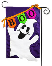 Halloween applique garden flag
