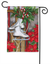 BreezeArt winter garden flag