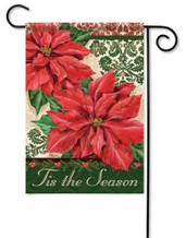 Decorative outdoor Christmas garden flag