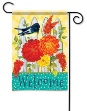 Welcome garden flag
