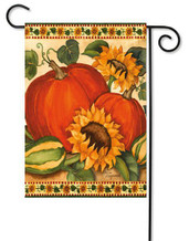 Decorative autumn garden flag