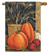 Autumn outdoor house flag