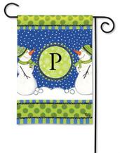 BreezeArt Monogram Garden Flag - Letter P