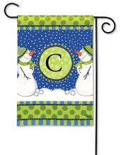 BreezeArt Monogram Garden Flag - Letter C