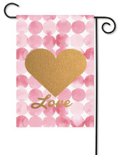 Valentine Garden Flag - Embellished with Real Glitter