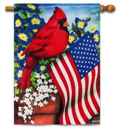Patriotic House Flag-Evergreen