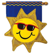 Summer Applique House Flag by Evergreen