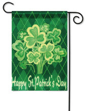 St. Pat's Garden Flag-Evergreen