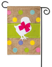 Burlap Easter Garden Flag-Evergreen