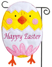 Easter Chick Garden Flag - Evergreen