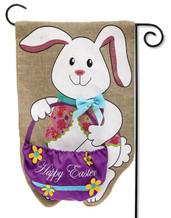 Burlap Easter Garden Flag