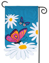 Applique garden flag - Evergreen