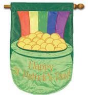 St. Patrick's Day Applique House Flag