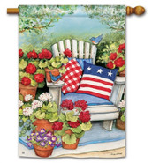Patriotic House Flag - BreezeArt