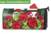 LARGE Oversized Magnetic Mailbox Cover - Window Box Geranium