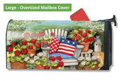 LARGE Oversized Magnetic Mailbox Cover - Patriotic Pillows
