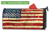 LARGE Oversized Magnetic Mailbox Cover - Home of the Brave