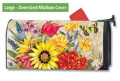 LARGE Oversized magnetic mailbox cover - Botanical Garden