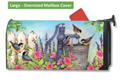 LARGE Oversized Mailbox Cover - Birds of Summer