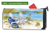 Large Oversized Mailbox Cover - Waterside