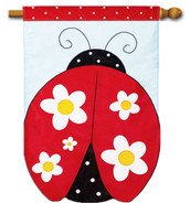 Applique outdoor house flag