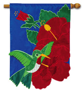 Deluxe applique outdoor house flag