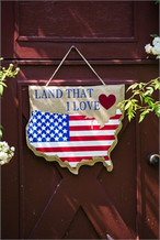 Patriotic Front Door Decor by Evergreen