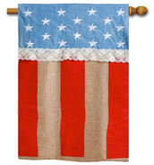 Burlap outdoor house flag