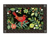 Folk Cardinal MatMates Doormat - Tray Sold Separately