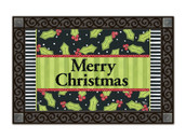 Holly Leaves MatMates Doormat - Tray Sold Separately