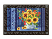 Denim Sunflowers MatMates Doormat - Tray Sold Separately