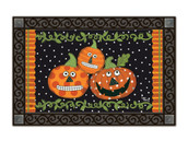 Pumpkin Faces MatMates Doormat - Tray Sold Separately