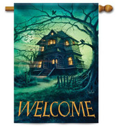 Outdoor House Flag Haunted House