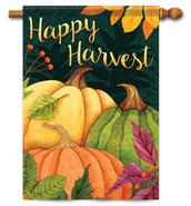 Outdoor House Flag Pumpkin Patch