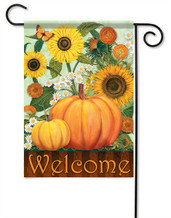 Outdoor Garden Flag Sunflower Pumpkins
