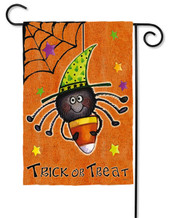 "Perfectly Scary Halloween Garden Flag - Unique 2 flags in 1 design - 12.5"" x 18"" - Evergreen"