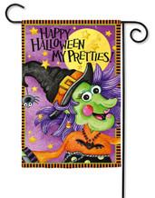 """Halloween Pretties Garden Flag - 2 Sided Message - 12.5"""" x 18"""" - Evergreen (G6594)"""