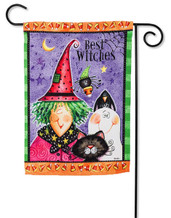 "Best Witches Garden Flag - 2 Sided Message - 12.5"" x 18"" - Evergreen (G6595)"
