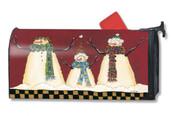 Mailwraps Primitive Snowman Magnetic Mailbox Cover