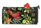 Mailwraps Folk Cardinal Magnetic Mailbox Cover