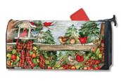 Mailwraps Winter Gathering Magnetic Mailbox Cover