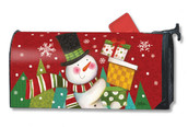 Mailwraps Happy Snowman Magnetic Mailbox Cover
