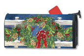 Mailwraps Winter Wreath Magnetic Mailbox Cover