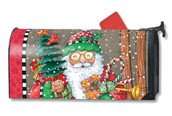 Mailwraps Jolly Santa Magnetic Mailbox Cover