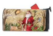 Mailwraps Woodland Santa Magnetic Mailbox Cover
