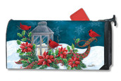 Mailwraps Cardinal Christmas Magnetic Mailbox Cover