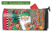 Mailwraps Jolly Santa LARGE Magnetic Mailbox Cover