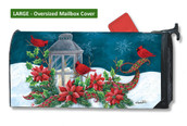 Mailwraps Cardinal Christmas LARGE Magnetic Mailbox Cover